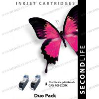 Replacement, Duopack, SL voor Canon PGI 520 Black  2x21 ml